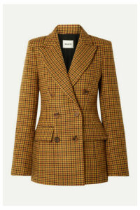 Khaite - Darla Checked Wool Blazer - Yellow