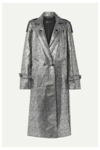 RtA - Andi Metallic Tweed Coat - Silver