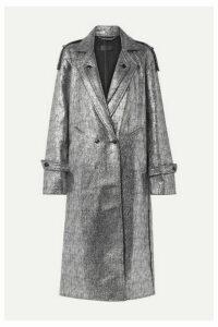 RtA - Andi Metallic Tweed Coat - Silver