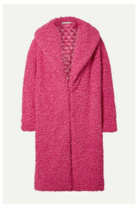Alice + Olivia - Ora Oversized Faux Shearling Coat - Bright pink
