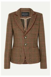 Etro - Houndstooth Wool-blend Blazer - Light brown