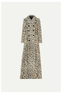 Dolce & Gabbana - Double-breasted Leopard-print Cotton-blend Faux Fur Coat - Leopard print