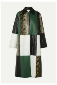 Stand Studio - Nino Patchwork Leather Coat - Green