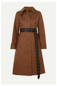 Mackintosh - Roslin Belted Bonded Wool And Mohair-blend Coat - Brown