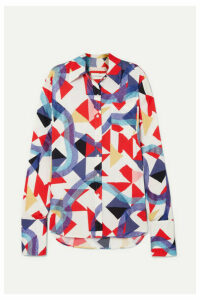 Wales Bonner - Glittered Printed Crepe Shirt - IT46