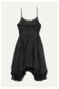 Philosophy di Lorenzo Serafini - Asymmetric Metallic Tulle Mini Dress - Black