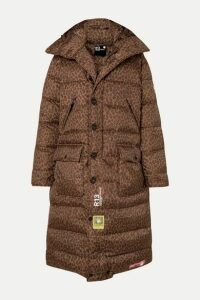 Brumal - +r13 Hooded Quilted Leopard-print Shell Down Coat - Brown