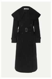 Comme des Garçons Comme des Garçons - Belted Double-breasted Wool-blend Twill Coat - Black