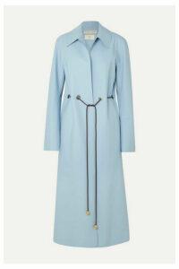 Bottega Veneta - Belted Matte-pu Coat - Blue