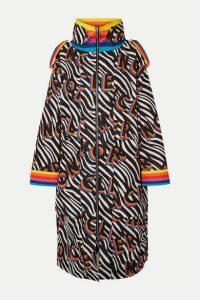 Moncler Genius - + 0 Richard Quinn Ava Oversized Printed Shell Down Coat - Black