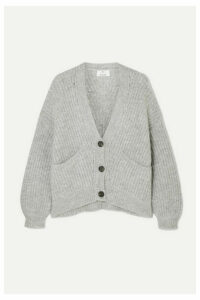 Allude - Ribbed-knit Cardigan - Gray