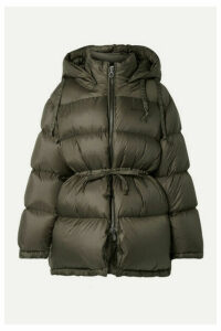 Acne Studios - Oversized Hooded Quilted Shell Down Jacket - Army green