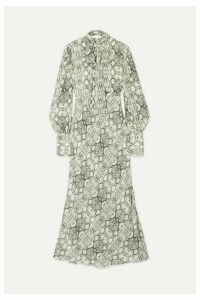 Les Rêveries - Snake-print Silk Crepe De Chine Midi Dress - Snake print