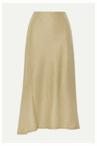 Theory - Wool Midi Skirt - Beige