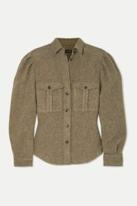 Isabel Marant - Florrie Brushed Wool-blend Shirt - Army green