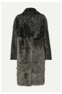 Karl Donoghue - Paneled Shearling Coat - Gray