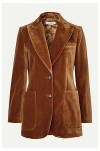 Bella Freud - Saint James Wool-velvet Blazer - Camel