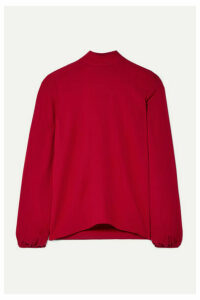 Theory - Silk-crepe Top - Claret
