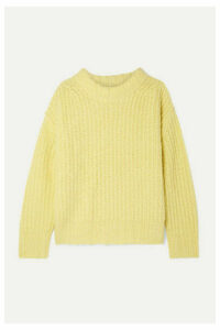 SEA - Nora Oversized Ribbed-knit Sweater - Bright yellow