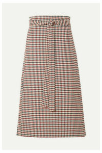SEA - Petra Checked Woven Wrap Skirt - Red