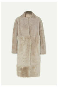 Karl Donoghue - Paneled Shearling Coat - Beige