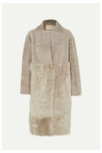 Karl Donoghue - Paneled Shearling Coat - Beige