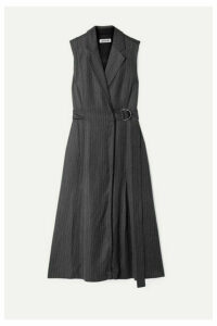Jason Wu - Belted Pinstriped Twill Dress - Gray