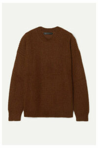 Sally LaPointe - Oversized Ribbed Mohair-blend Sweater - Dark brown