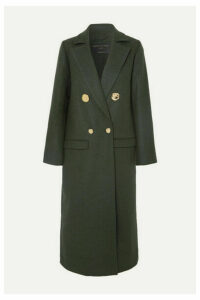 Mother of Pearl - Double-breasted Wool And Cashmere-blend Coat - Dark green