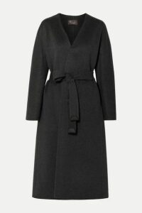 Loro Piana - Gil Belted Cashmere Coat - Dark gray