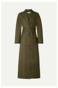 ANNA QUAN - Nora Belted Twill Coat - Army green