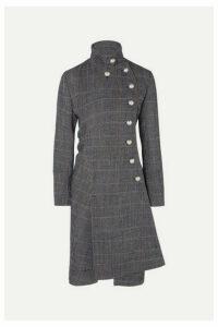 Chloé - Asymmetric Double-breasted Wool-blend Coat - Gray