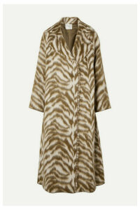 forte forte - Oversized Zebra-print Wool-blend Faux Fur Coat - Cream