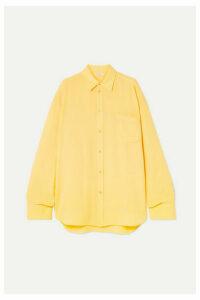 Balenciaga - Silk-crepe Shirt - Yellow