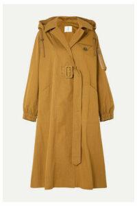 TRE by Natalie Ratabesi - The Gaia Cotton-blend Faille Coat - Brown