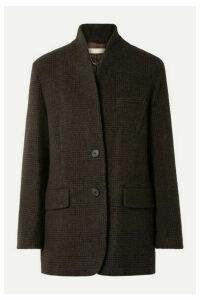 Vanessa Bruno - Jovanka Checked Wool-blend Blazer - Dark brown