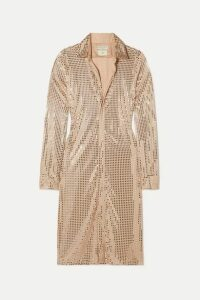 Bottega Veneta - Sequined-embellished Satin-jersey Midi Dress - Beige