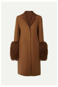 Akris - Shearling-trimmed Cashmere Coat - Tan
