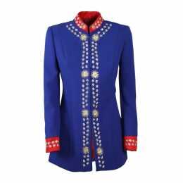 The Extreme Collection - Intense Blue Frock Coat Blazer Heidi
