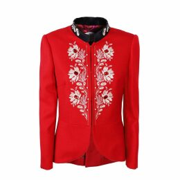 The Extreme Collection - Red Classic Cut Blazer Kate