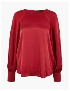 Autograph Satin Relaxed Fit Shell Top