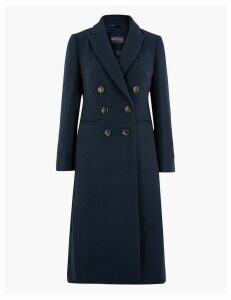 M&S Collection PETITE Waisted Overcoat