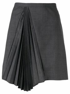Nº21 pleated asymmetric skirt - Grey