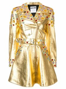 Moschino crystal-embellished metallic dress - GOLD