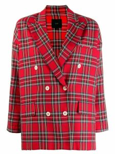 Jejia tartan checked blazer - Red