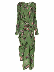 Preen By Thornton Bregazzi Ofira floral-print midi dress - Green