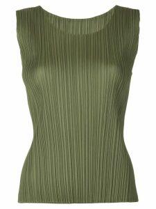 Pleats Please Issey Miyake pleated tank top - Green