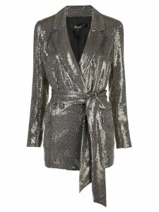 Badgley Mischka sequin embellished blazer - Gold