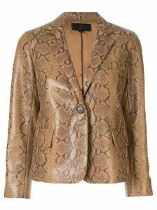 Nili Lotan snakeskin-effect blazer - Brown
