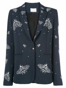 Valentina Shah bee embroidery blazer - Blue